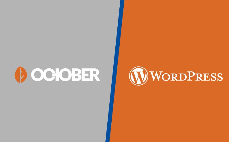 Vergleich Wordpress & October CMS