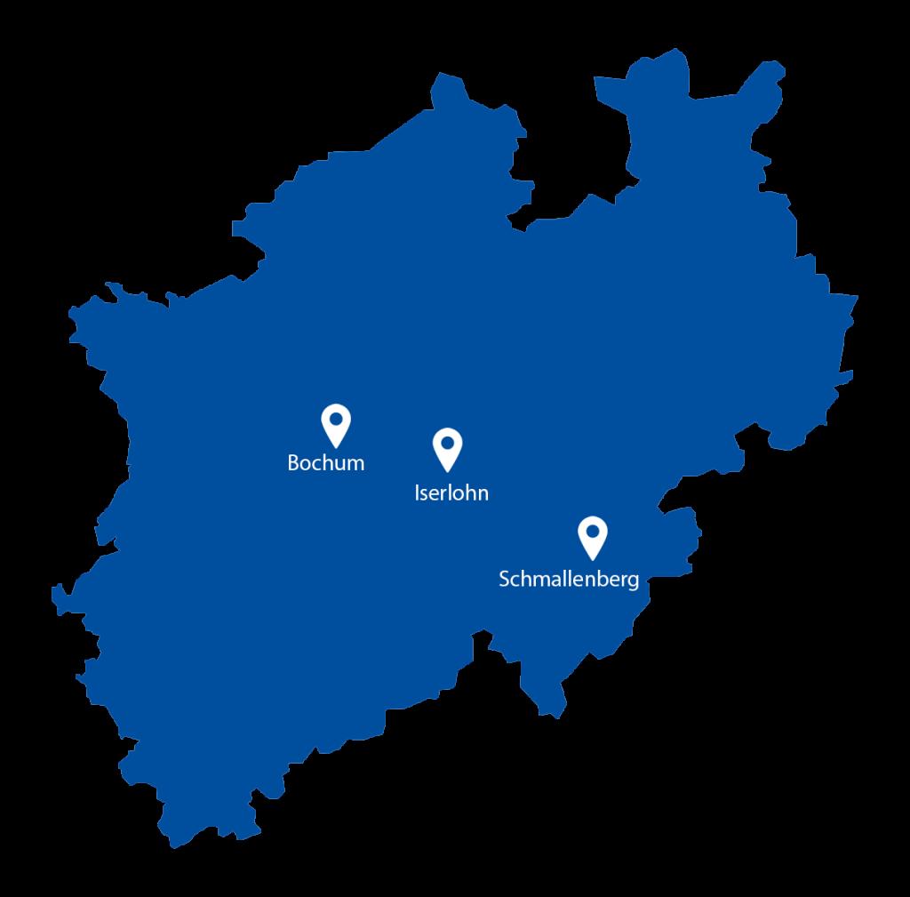 SkySystems NRW Karte
