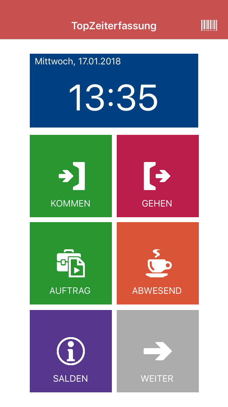TopKontor Zeiterfassung App