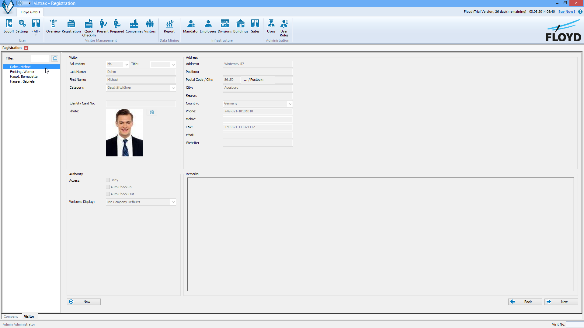 Vistrax Screenshot